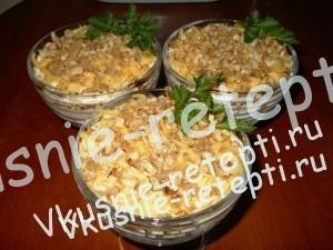 Салат с креветками Честер