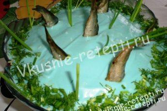 Консервированный салат «Рыбки в пруду»