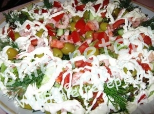 Салат с криветками