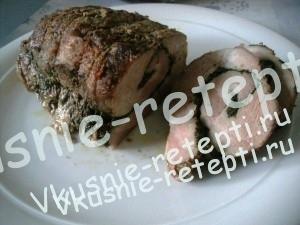 мясного рулета из свинины, фото