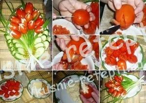 Украшения из овощей, Праздничные украшения