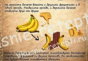 Полезные советы, выбираем бананы