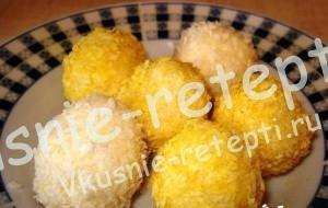 Кокосовые шарики, Десерт на скорую руку