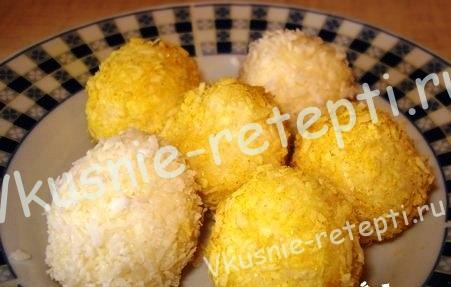 Кокосовые шарики, фото