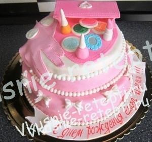 медовый детский торт для девочки