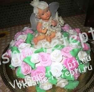 детский торт для девочки  Зебра