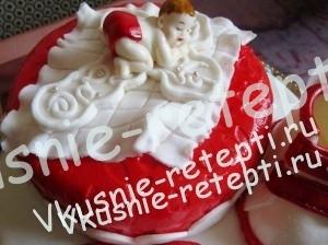 детский торт на крестины сникерс