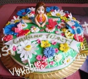 детский торт на день рождение  пень