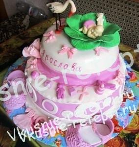 детский торт на крестины пьяная вишня