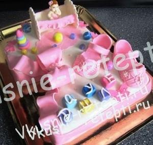детский торт из мастики каприз, фото