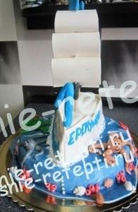 детский торт для мальчиков корабль фото