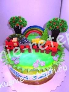 Детский торт из мастики на день рождение для мальчика