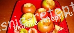 запеченные яблоки - чистим яблоки