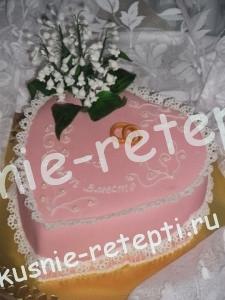 торт юбилейный медовый со сгущенкой