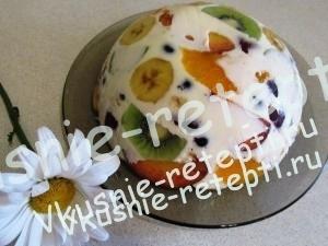 летний творожный чизкейк с фруктами, фото