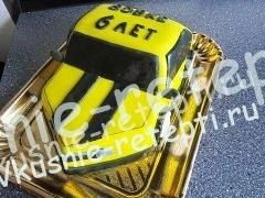 торт из бисквитных коржей Машина из мастики, фото