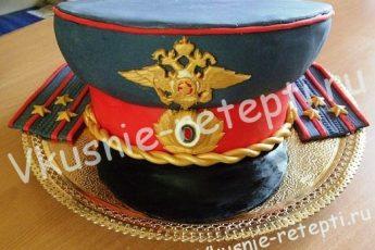 творожный бисквитный торт для милиционера или для военного