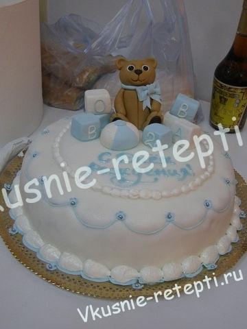 детский торт Мишка из зефира