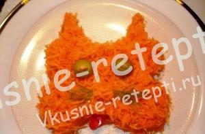 Морковный витаминный салат, Детское меню от 1 года