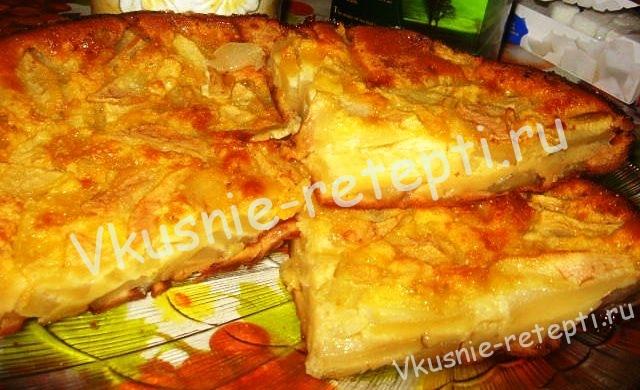 пирог с грушами, фото