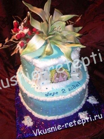 торт на день рождение заварной Наполеон