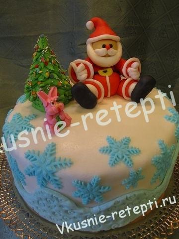 детский торт на новый год с орехами