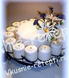 свадебный торт сметанник