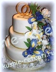 Торт дамский каприз из мастики свадебный