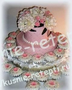 Украшение свадебного торта медовый рыжик