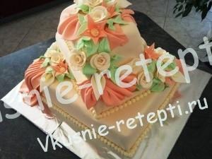Украшение свадебного торта пьяная вишня