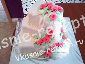 Торт чудо из мастики свадебный