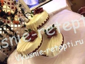 Торт с орехами свадебный трех ярусный