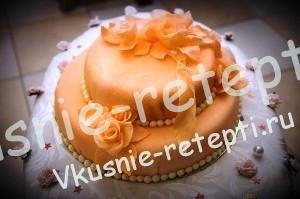 Торт  свадебный медовик сметанный, фото