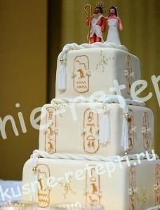 Свадебный торт из мастики винни пух с творожным кремом