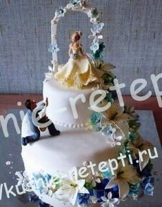 Оригинальный и необычный свадебный медовый торт со сгущенкой