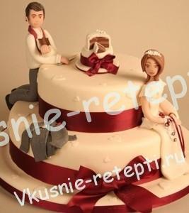 Торт чародейка из мастики свадебный