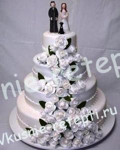 Торт  свадебный с маком и сметанным кремом, фото