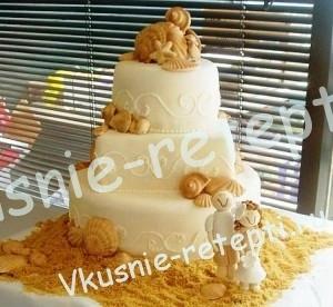 Торт  свадебный маковый со сливочным кремом, фото