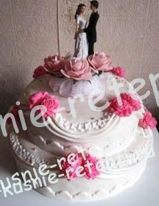 торт свадебный из зефира