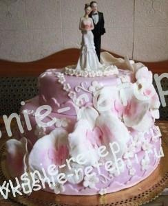 торт свадебный на сметане