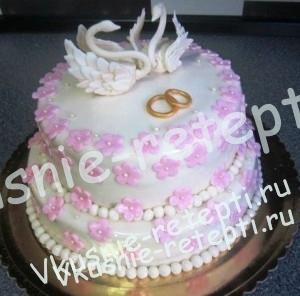 торт свадебный заварной Наполеон