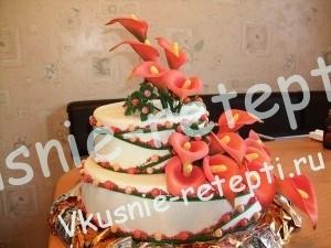Красивые свадебные торты, Красивый свадебный торт цветок