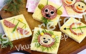 Веселый завтрак для детей