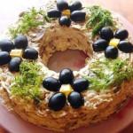 салат с шампиньонами Леший, фото