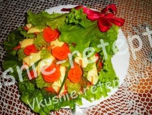 Новый рецепт салата, салат с шампиньонами