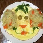 Забавная яичница для детей, фото