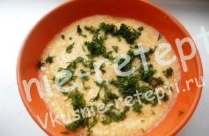 Овощной суп пюре с рисом