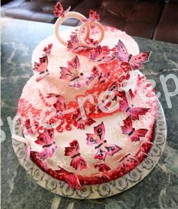 красивый свадебный торт, фото