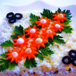 куриный салат Лебяжий пух, фото