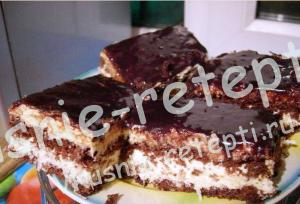 шоколадный торт с кокосом